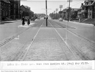 St Clair Avenue, west from Spadina Road