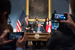 Mayor de Blasio today signs 12 pieces of legislation on which he previously held a hearings ? Intros. 1290-A, 1295-A, 1296-A and 1297-A, in relation to the Percent for Art program; Intros. 570-A, 860-A and 861-A, in relation to commuter vans; Intro. 865-B