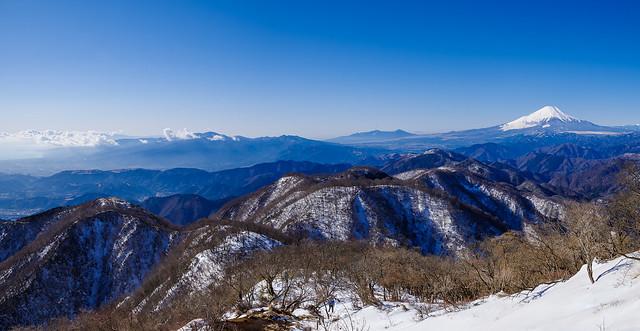 鍋割山稜と箱根の山々@塔ノ岳
