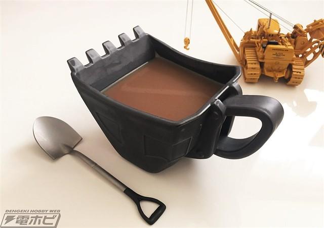 硬派男子漢必備!怪手鏟斗造型馬克杯(黑鐵Ver.) 油圧ショベルバケットカップ(黒鉄)