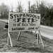 Narborough Hall, STUPENDOUS FETE sign - 1960s by Picture Norfolk