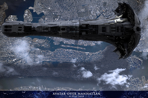 Avatar Over Manhattan