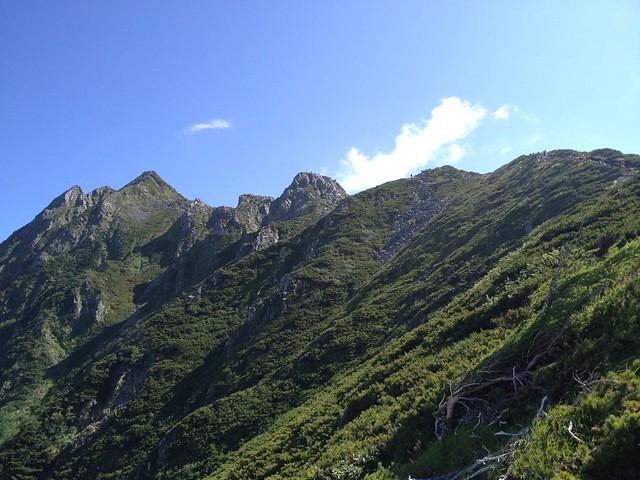 西穂高岳 西穂高口ルート 山頂遠景