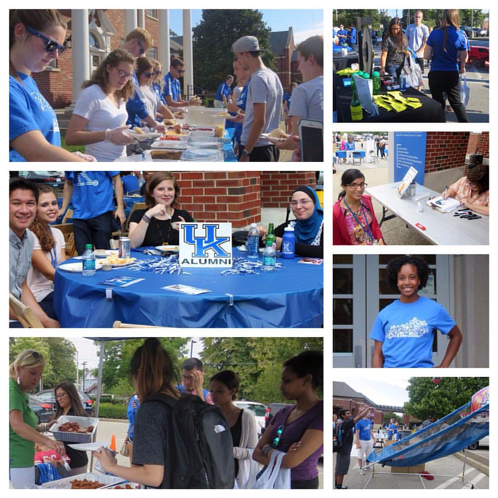 .@kentucky_alumni & Stuckert Career Ctr hosted Wildcats last night at their Welcome Festival. Participants enjoyed games, a free meal, free t-shirts & other giveaways after the first day of classes. We thought it was a great way to end the day! #KWeek #se
