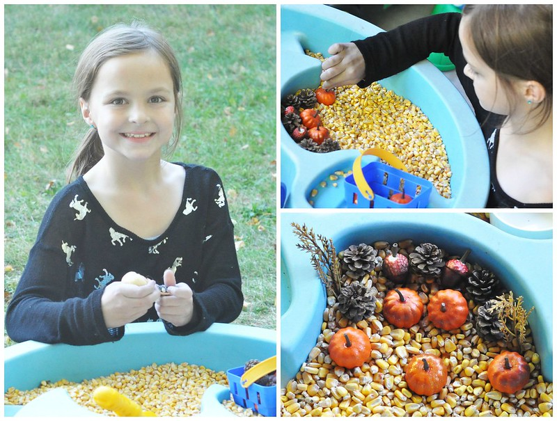 Fall Themed Water Table Play