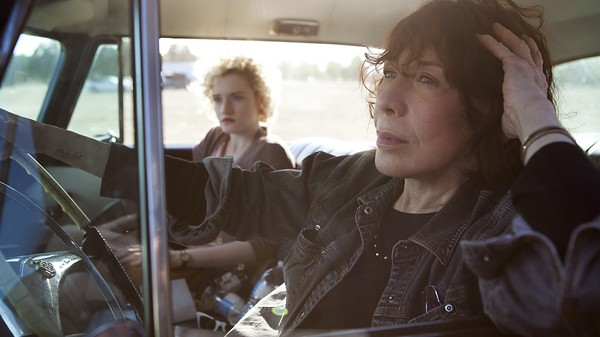 Julia Garner and Lily Tomlin are an abortive mission in GRANDMA.
