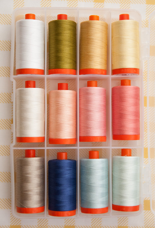 "Aurifil's ""Sunshine"" Thread box by Vanessa Goertzen"