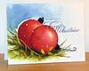 2 boules de Noël rouge 002
