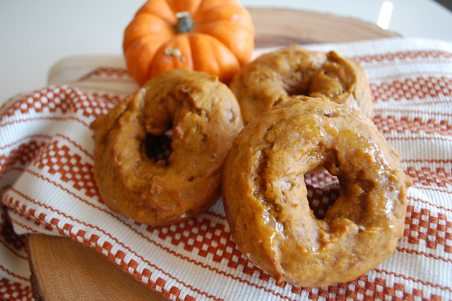 Glazed Pumpkin Doughnuts