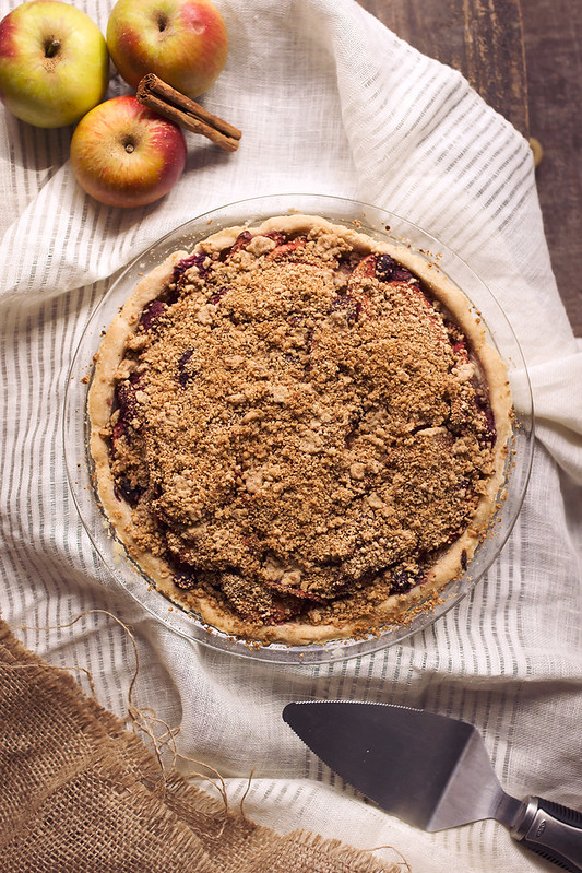 Grain-free Apple Berry Crumb Pie (Paleo with vegan and AIP options)