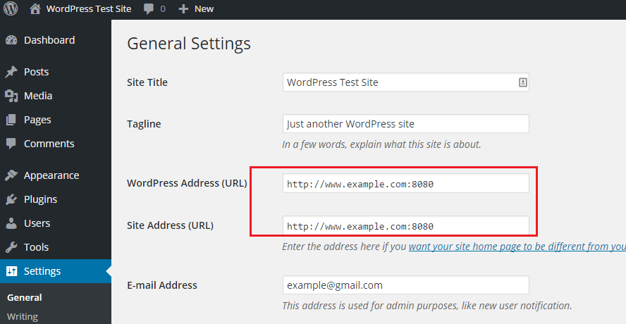 WordPress_Dashboard_URL_Configuration