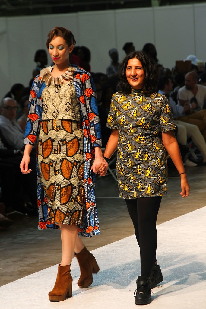 Mafrika-collection-at-AFWL15, African print culottes with matching high neck crop top, kitenge shirt with cropped kitenge trousers/pants,  ankara shift mini dresses for a 1960s look