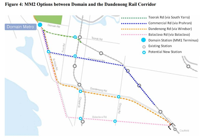 Melbourne metro rail tunnel: alignment options