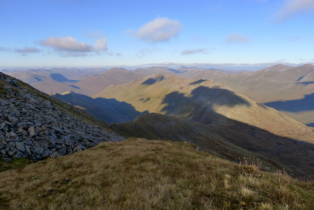 North from Sgùrr nan Ceathreamhnan