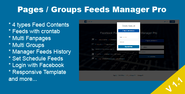 Codecanyon Facebook Pages / Groups Posts Manager Pro - Update October