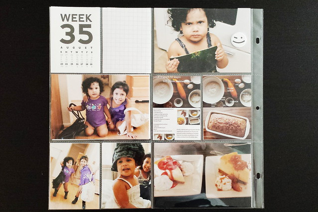 august 2015 layouts :: pocket memory keeping // project life