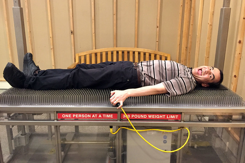 Bed of nails!