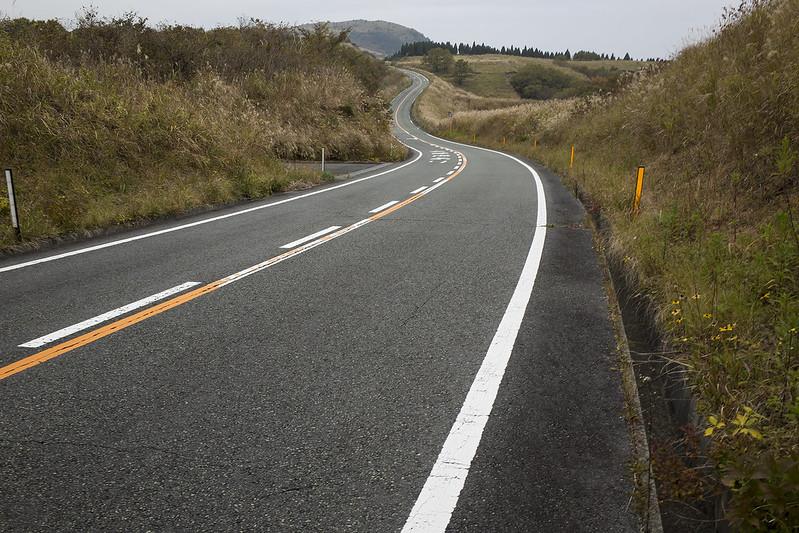 Winding road, Aso Kumamoto