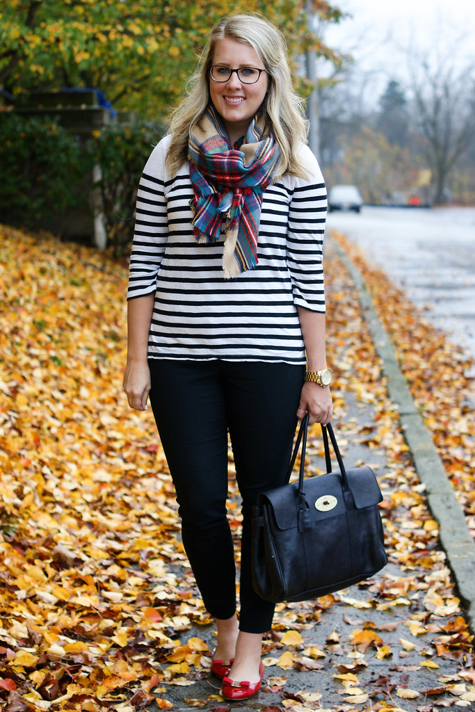 Oversized Plaid Scarf - Multicolored