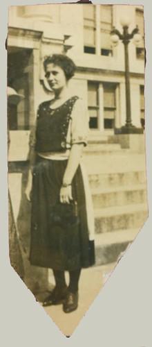 Woman at steps