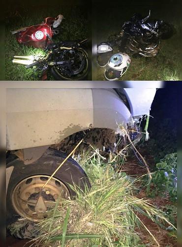 acidente moto PR 444