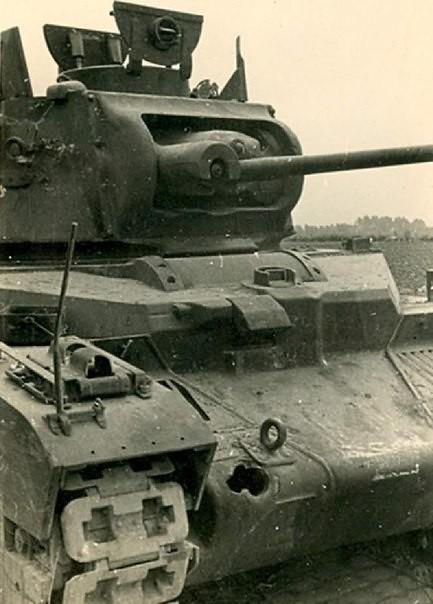 "Wrecked British tank ""Matilda II"""