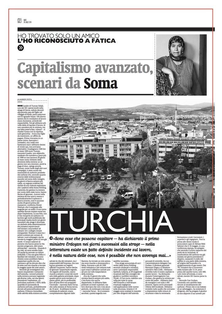 Meno stato, più mercato. Reportage sulla strage di Soma - Alias, il Manifesto - Luglio 2014