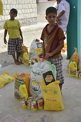 Food for a young boy's family in Aden