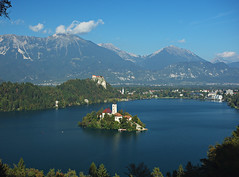 Lake Bled from the hills