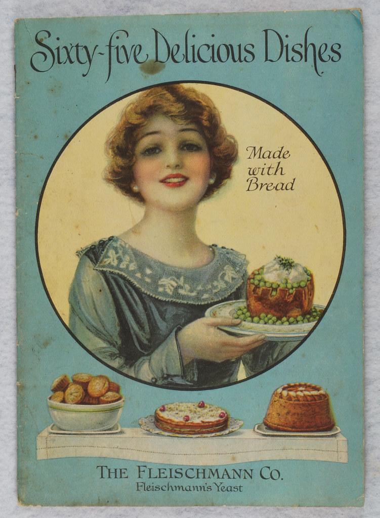 RD4157 1919 Fleischmann Yeast Cook Book Booklet - 65 Delicious Dishes DSC08631