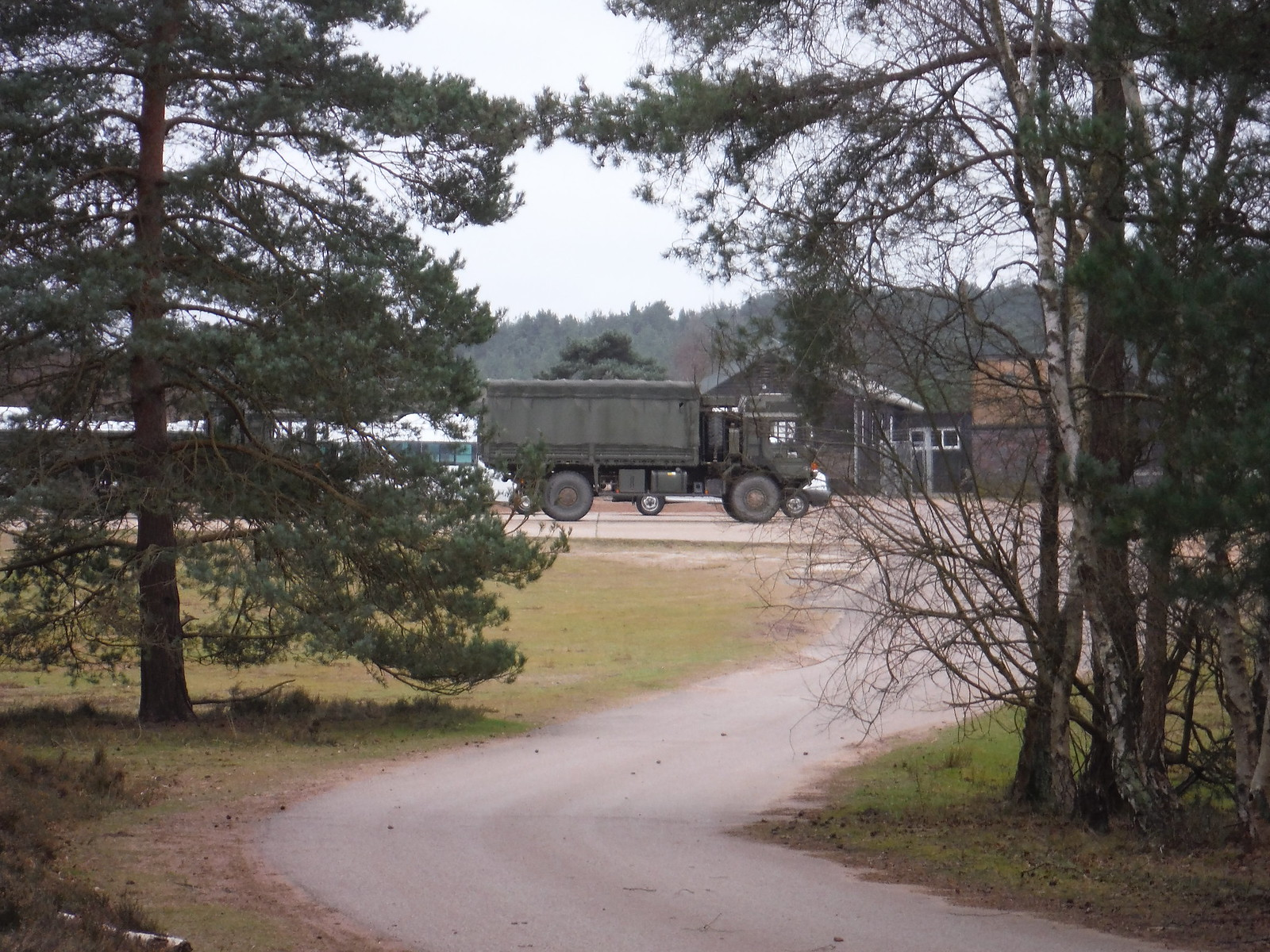 Army Car Park, Hankley Common SWC Walk 144 Haslemere to Farnham