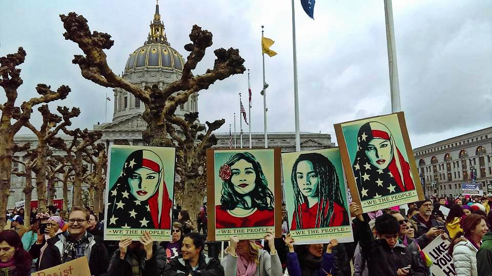 at the Women's March, San Francisco