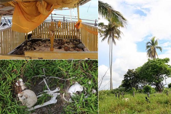 Kuburan di Pulau Manimbora