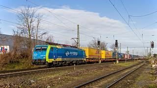Empel-Rees PKP Cargo 189 205 met Poznanshuttle