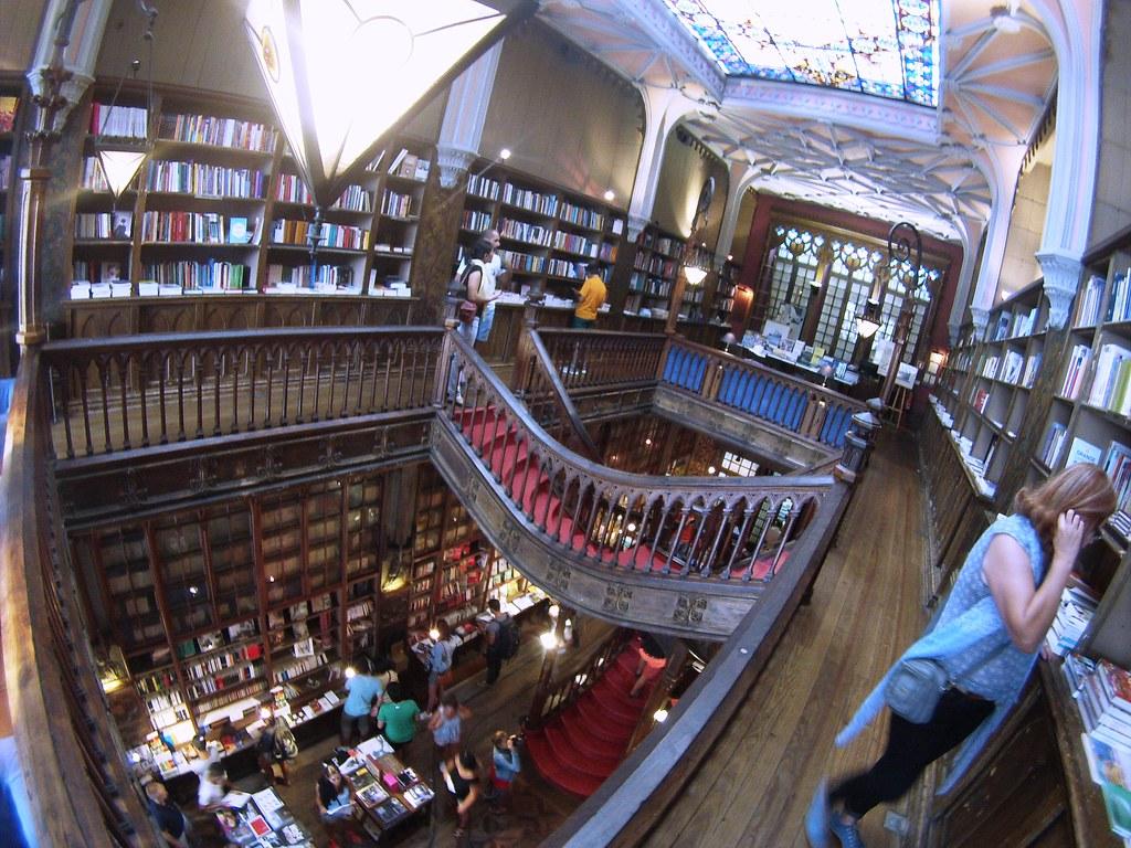 Livraria Lello, in Porto, Portugal is the most beautiful bookshop I've seen.
