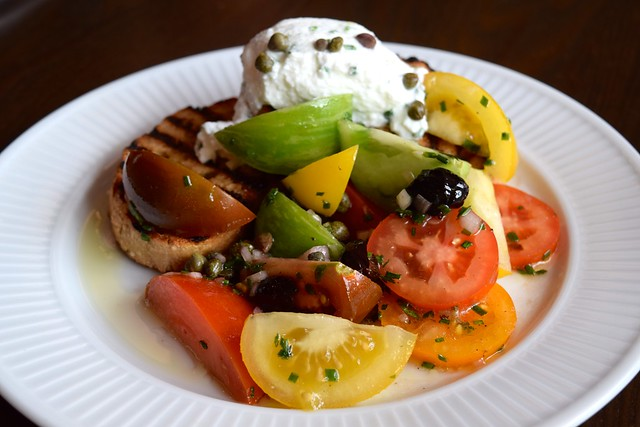 Breton Tomato Salad with Goats Cheese at Cote, Canterbury