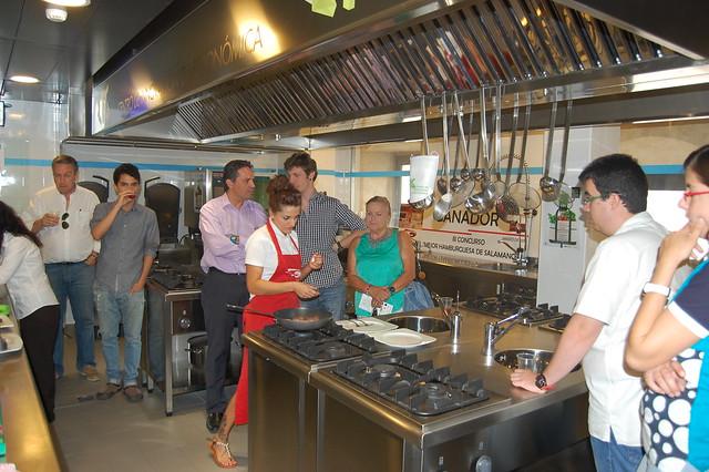 Público asistente al showcooking de Carnicería Pedro Rivas