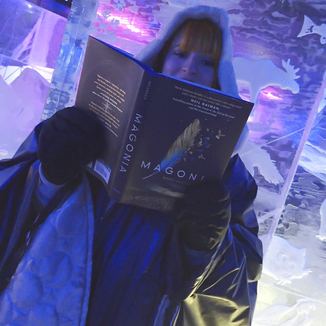Reading Magonia in the Ice Bar Stockholm