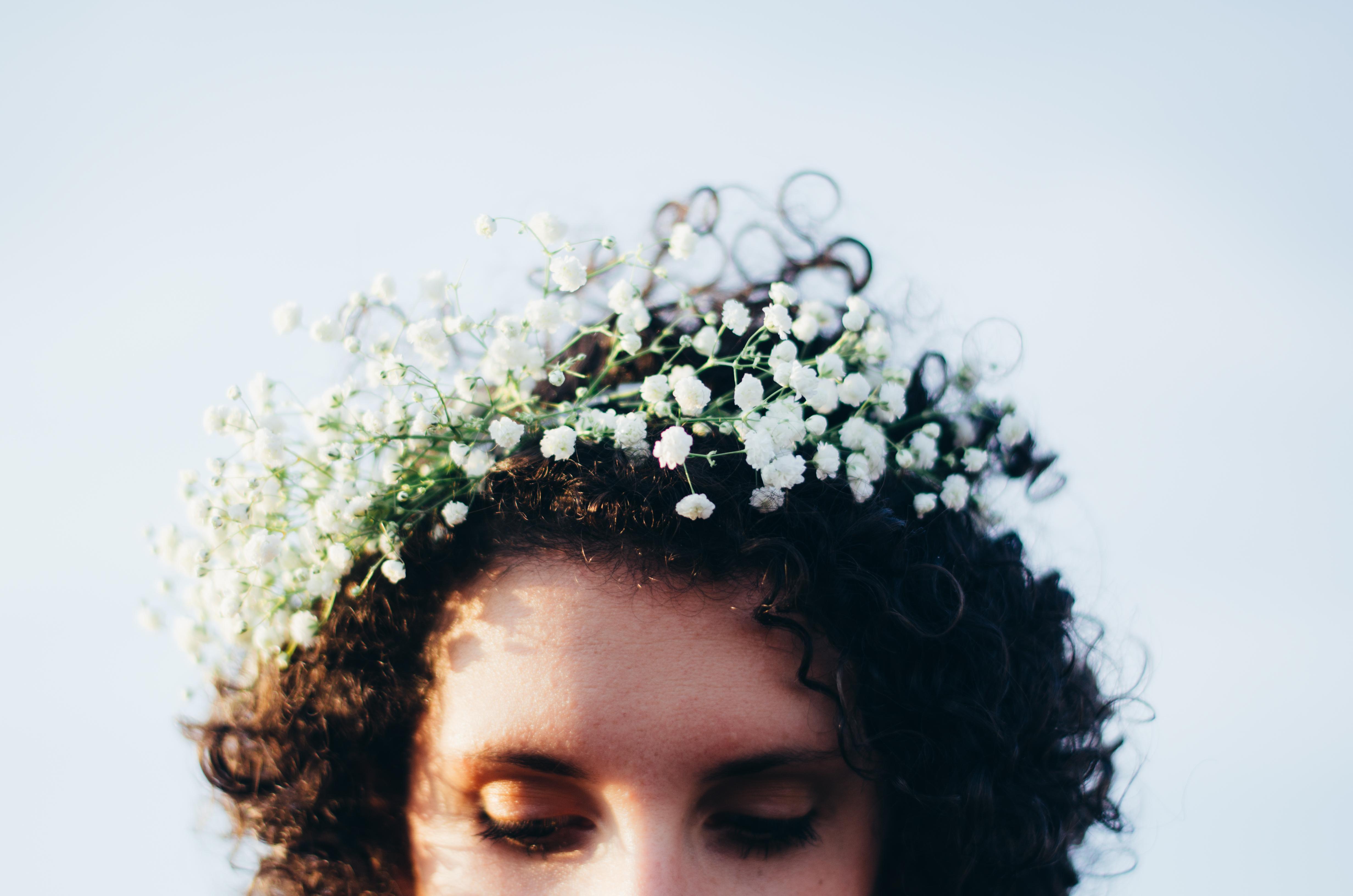 Babies Breath Flower Crown on juliettelaura.blogspot.com