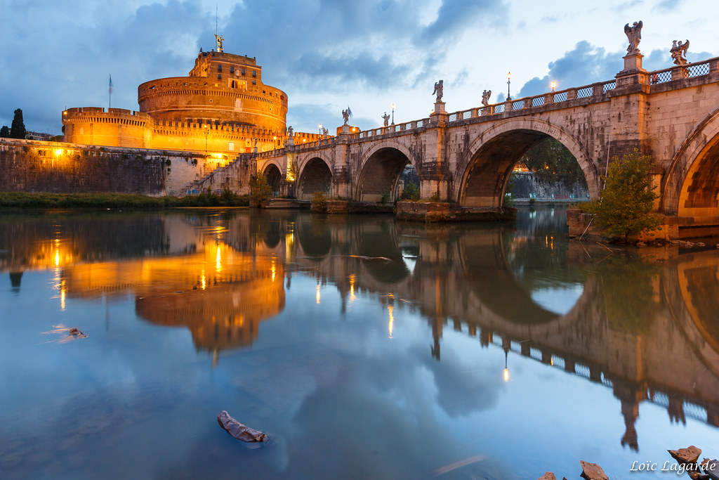 Early Morning Mirror on Ponte Sant'Angelo .