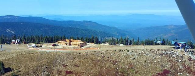 new lodge at Schweitzer under construction