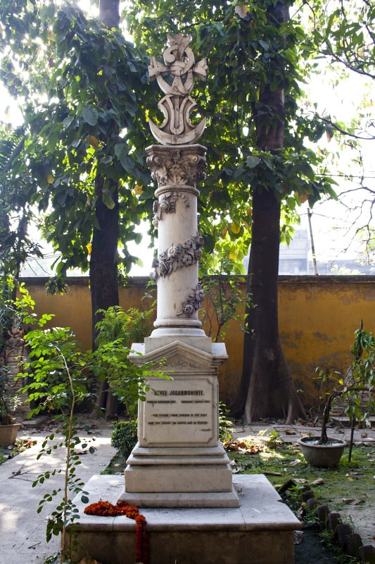 Nabadebalaya - Grave of Jagonmohini Sen wife of Keshab Chandra Sen - Brahmo Cemetery, Kolkata, India