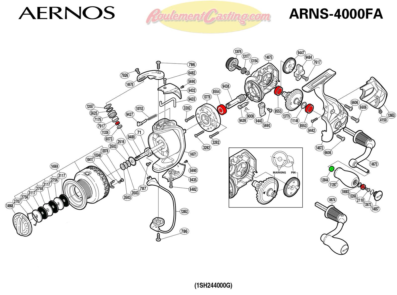 Schema-Shimano-AERNOS-4000FA