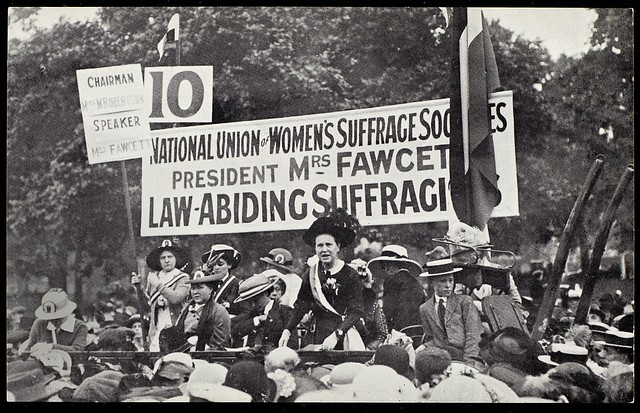 Millicent Fawcett's Hyde Park address on 26 July 1913. Credit: LSE Library