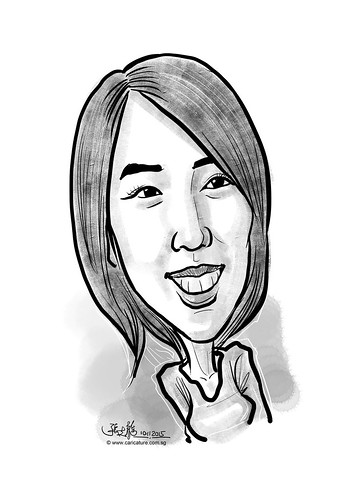 digital caricature for eBay - SU JUNG, HA