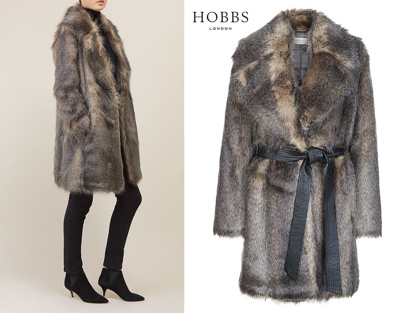 Hobbs AW15 fur coat