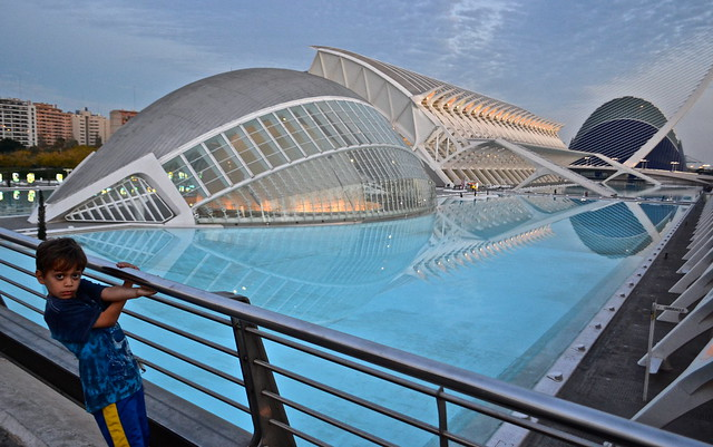 with kids - City of Arts and Sciences, Valencia Spain
