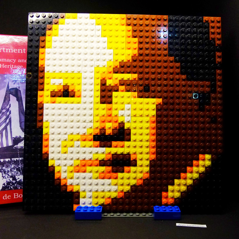 Sundae Scoops goes to Defining Quirino at Ayala Museum Lego Portrait by mis_ter_e