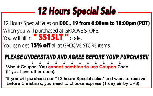 12 Hour Sale on JPGroove tomorrow
