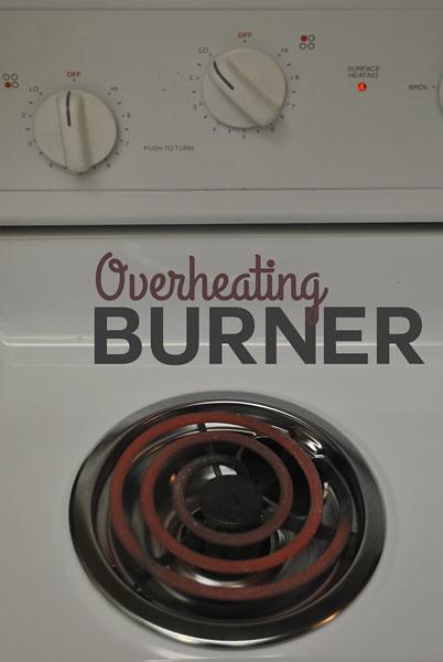 One Electric Burner Overheating